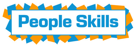 People Skills Blue Orange Random Shapes Horizontal