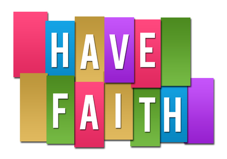 Have Faith Colorful Stripes Group
