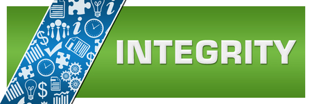 Integrity Blue Business Element Green Left Side