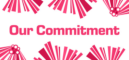 Our Commitment Pink Abstract White 写真素材
