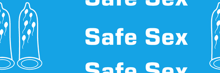 Safe Sex Blue Repeated Text Symbol Stock Photo