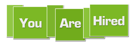 You Are Hired Green Color Boxes