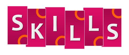 Skills Pink Orange Stripes Rings