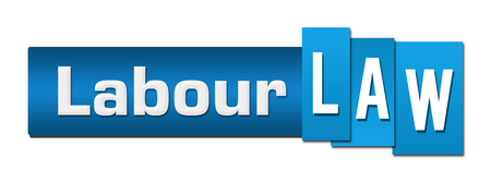 Labour Law Blue Stripes Bar Horizontal Stock Photo