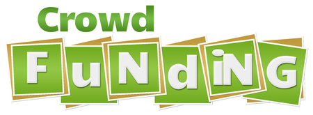 Crowd Funding Green Squares Text