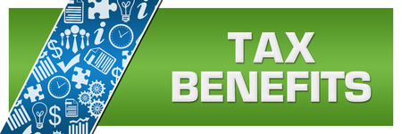 Tax Benefits Blue Business Element Green Left Side