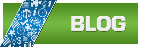 Blog  Blue Business Element Green Left Side Stock Photo