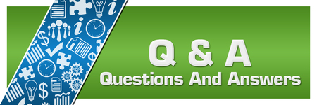 Q And A - Questioins And Answers  Blue Business Element Green Left Side