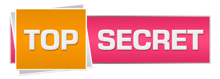 Top Secret Pink Orange Horizontal Banco de Imagens