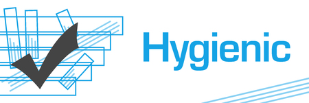 Hygienic Blue Strokes Symbol Horizontal