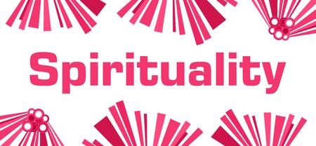 Spirituality Pink Abstract White Stock Photo