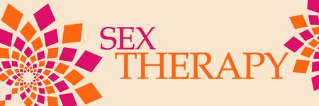 Sex Therapy Pink Orange Floral Horizontal
