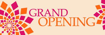 Grand Opening Pink Orange Floral Horizontal