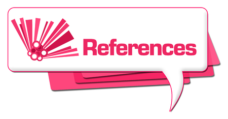 References Pink Graphic Comment Symbol Stock Photo