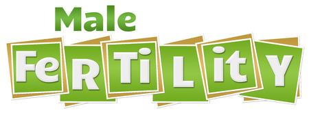 Male Fertility Green Squares Text Stockfoto