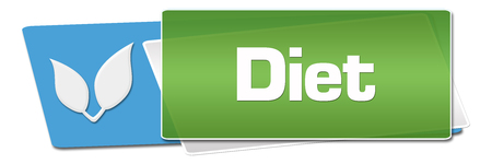 Diet Green Blue Rounded Horizontal