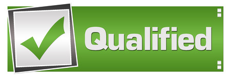 Qualified Green Grey Square Left