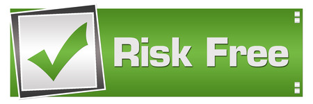 Risk Free Green Grey Square Left