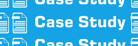 Case Study Blue Repeated Text Symbol 스톡 콘텐츠