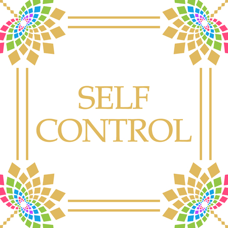 Self Control Colorful Floral Square
