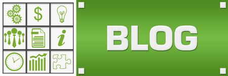 Blog Green Business Symbols Grid Left