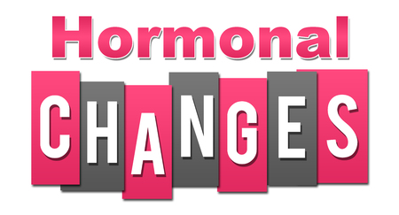 Hormonal Changes Professional Pink Grey Reklamní fotografie