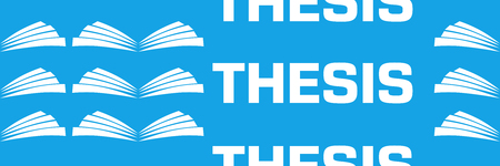 Thesis Blue Repeated Text Symbol