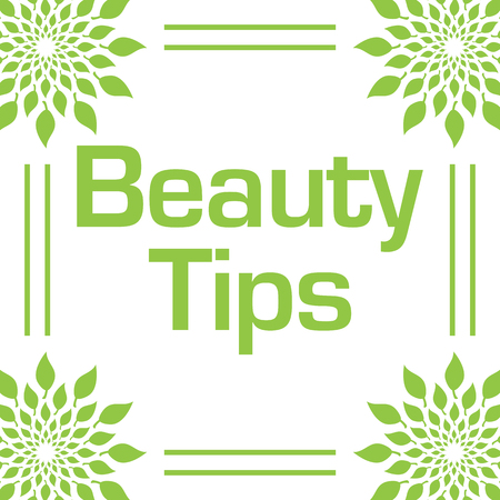 Beauty Tips Green Leaves Circular Frame