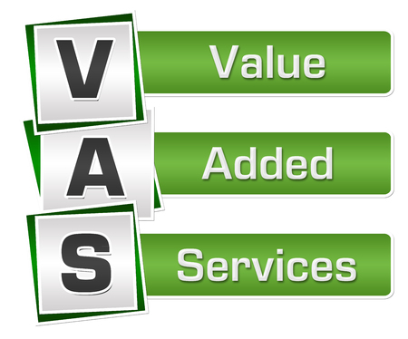 VAS - Value Added Services Green Grey Squares Vertical Фото со стока