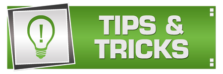 Tips And Tricks Green Grey Square Left