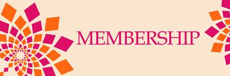 Membership Pink Orange Floral Horizontal