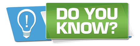 Do You Know Green Blue Rounded Horizontal