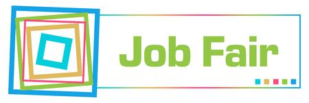 Job Fair Colorful Borders Square Horizontal