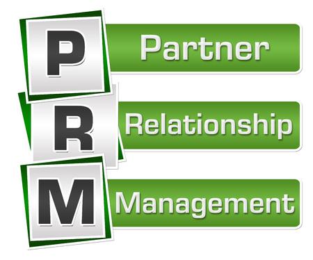 PRM - Partner Relationship Management Green Grey Squares Vertical 12429 Stock Photo