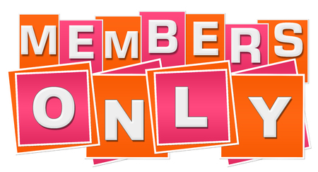 Members Only Orange Pink Squares Stripes