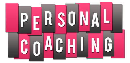 Personal Coaching Pink Grey Stripes Group Фото со стока