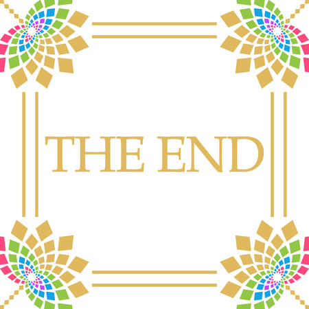 The End Colorful Floral Square