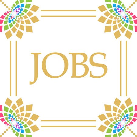 Jobs Colorful Floral Square