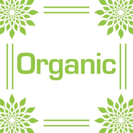 Organic Green Leaves Circular Frame
