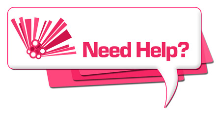 Need Help Pink Graphic Comment Symbol