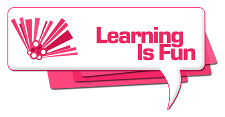 Learning Is Fun Pink Graphic Comment Symbol