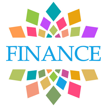 Finance Colorful Shapes Circular Stock Photo - 118847645