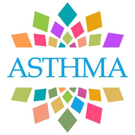 Asthma Colorful Shapes Circular Stock Photo - 118847646