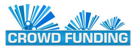 Crowd Funding Blue Abstract Graphics On Top