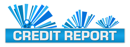 Credit Report Blue Abstract Graphics On Top Stock Photo - 118847664