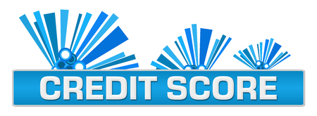 Credit Score Blue Abstract Graphics On Top