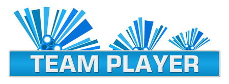 Team Player Blue Abstract Graphics On Top