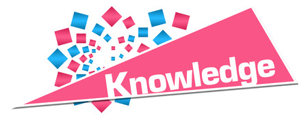 Knowledge Pink Orange Circular Triangle Stock Photo - 118847671