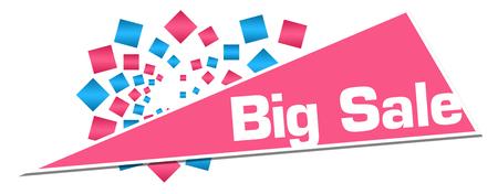 Big Sale Pink Orange Circular Triangle Stock Photo - 118847673