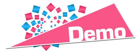Demo Pink Orange Circular Triangle Stock Photo - 118847674